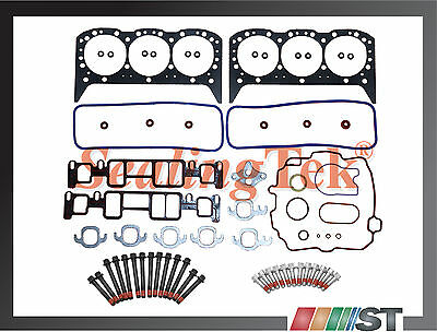 96-06 GM 4.3L Vortec Cylinder Head Gasket Set w/ Bolts Kit 4300 CPI engine motor