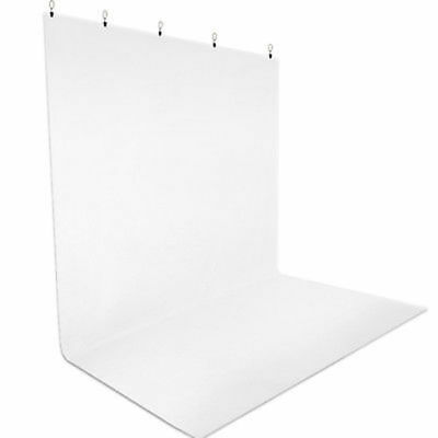 White Screen Muslin Backdrop Muslin W/ Clamps For Photography Stand Kit