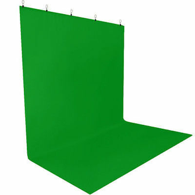 Photography Chromakey Green Screen Muslin W/ Clamps 5 x 10 ft Photo Backdrop