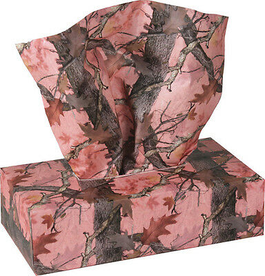 New Pink  Camo Camouflage Tissue Paper Box