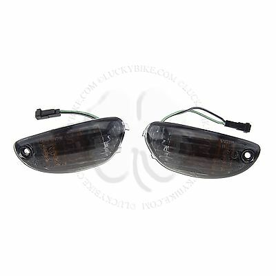 Smoke Front Mirror Turn Signal Blinker Suzuki GSXR 1000 2005 2006 2007 2008 2009