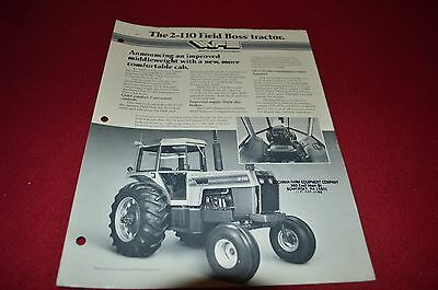 Oliver White 2-110 Field Boss Tractor Dealer's Brochure DADS