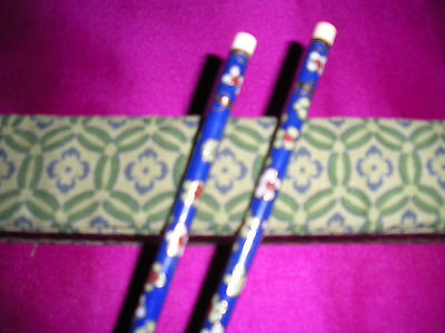 Set Of  Cloisonne Chopsticks From China In Box, New