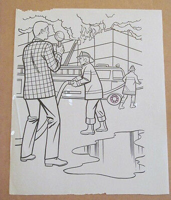 Superman Activity Book Original Art #47 Jimmy Olsen FRANK McLAUGHLIN