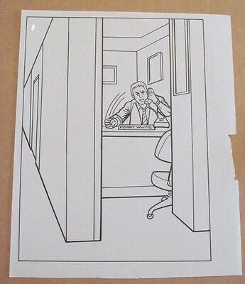 Superman Activity Book Original Art #46 Perry White FRANK McLAUGHLIN