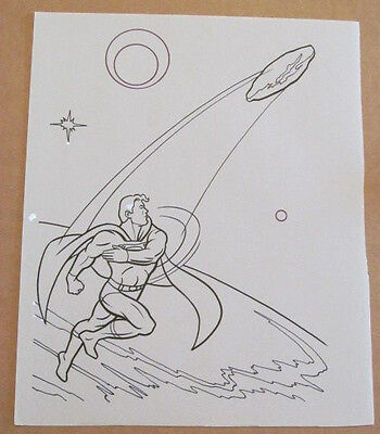 Superman Activity Book Original Art #35 Superman FRANK McLAUGHLIN