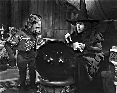 """New 8x10 Photo: Wicked Witch of the West and Flying Monkey in """"The Wizard of Oz"""""""