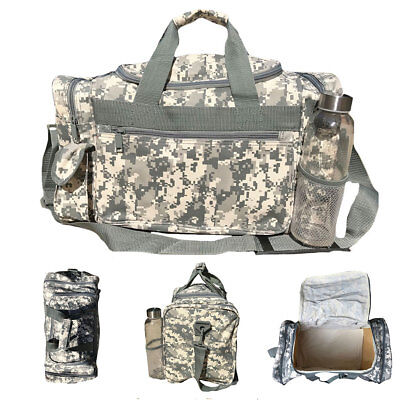 1157b8d1efa9 Camo Camouflage Army Duffle Duffel Bags Military Acu Sports Gym Travel  Carry On