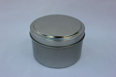 6 - 2oz & 6 - 1oz Round Deep Tin Containers with Lids   12    NEW