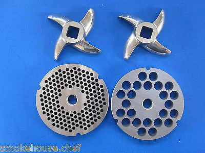 #32  Meat Grinder Plates and FREE knives for Hobart Chop Rite many others