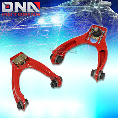 Adjustable Power-Coated Front Camber Kit Arms Jdm 96-00 Honda Civic Lx Ex Red