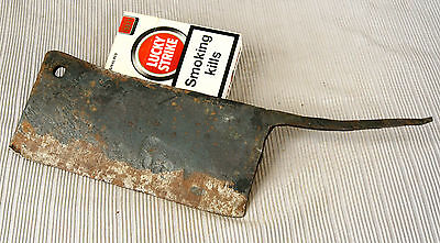 ANTIQUE 19`c ISLAMIC Ottoman Empire HAND FORGED IRON MEAT CLEAVER - 10.6""