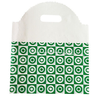 50pcs Green 25x29cm Plastic Bag Carry Shopping Die Cut Handle Bags WSHOP2554x50