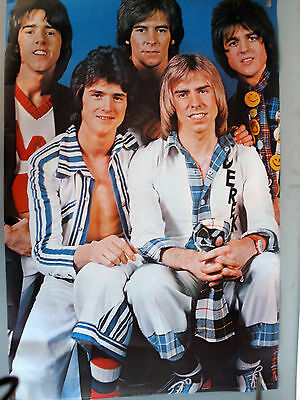 RARE THE BAY CITY ROLLERS 1975 VINTAGE ORIGINAL HEAD SHOP MUSIC PIN UP POSTER