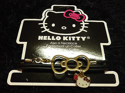 new Hello Kitty charm bracelet necklace Sanrio trademarked gold bow charm