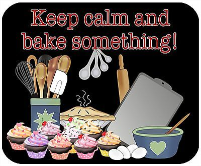 Mouse Pad, Thick Mousepad-Keep Calm, Bake Something