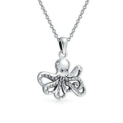 Bling Jewelry 925 Silver Nautical Antique Style Octopus Pendant