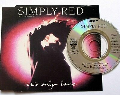 "SIMPLY RED-It's Only Love (1989) (CDM) Rare 3""Cds WEA"