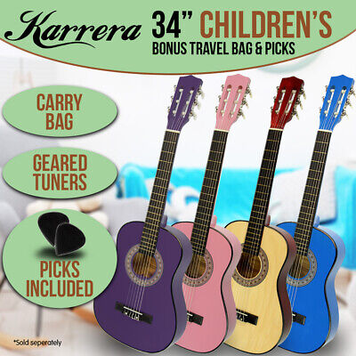NEW CHILDRENS ACOUSTIC GUITAR IDEAL KIDS GIFT 34in