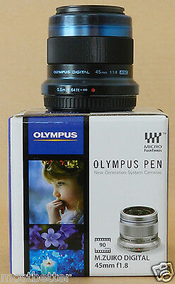 OLYMPUS M.ZUIKO DIGITAL 45mm F1.8 Black from Japan