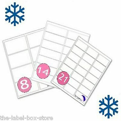 A4 White Matt Self Adhesive Printable Freezer Labels Frozen Food Storage Labels