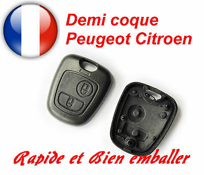 Demi Coque Cle Plip Case Key voiture CITROEN C1 C2 C3 C5 XSARA BERLINGO SAXO