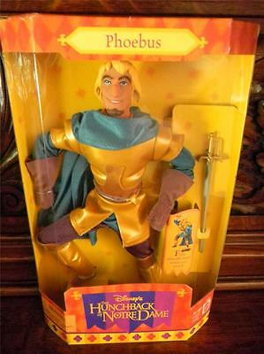 Disney's Hunchback of Notre Dame Phoebus Doll with Armor Sword MIB Mattel 1995