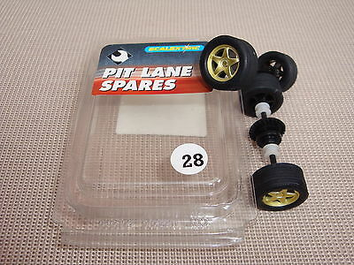 New Scalextric Wheels And Axles Complete With Tyres  Ref C8098