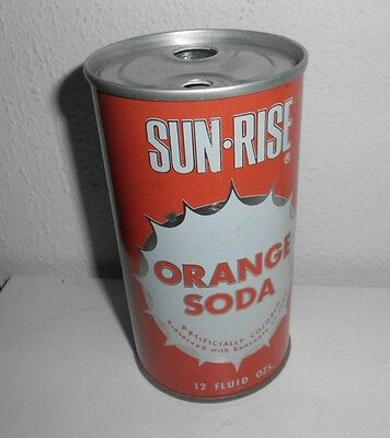 Sun-Rise Orange Soda Vintage Steel Can Push First Tab Rare HTF