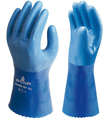 1 x Pair Of Showa Temres 281 Breathable & Waterproof PU Safety Gloves