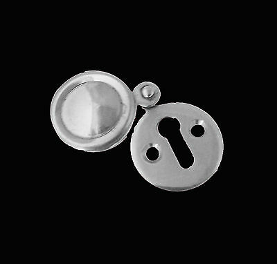 Pack Of 2 x Keyhole Swing Cover Chrome Escutcheon Key Covered Plates Door Locks