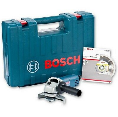 Bosch GWS 850 Angle Grinder 115mm With Diamond Blade And Carry Case 110V