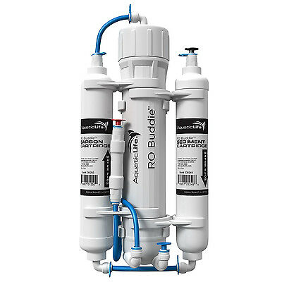 Aquatic Life RO Buddie 3 Stage Reverse Osmosis 50GPD with FREE TUBING!! AL01016