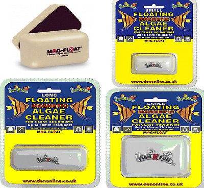 MAGNETIC GLASS CLEANER - (mini - large) - Fish R Fun Mag Float dm Algae Cleaner