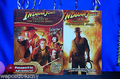 Indiana Jones Activity Books 2 Pack Collectors Guide With INDIANA JONES  Poster