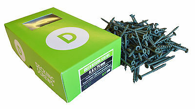 Deckfast Decking Screws 4.5 x 75mm Green Coated Various Quantities