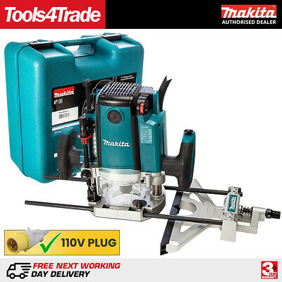 "Makita RP1801XK Router 1/2"" Collet 1650w motor 70mm Plunge + Case 110v"