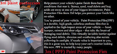 "24""x60"" Clear Bra Paint Protection Film Vinyl Wrap  3 M Brand name"