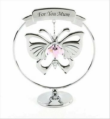Crystocraft - MUM Gift Butterfly made with Strass Swarovski Crystal Elements