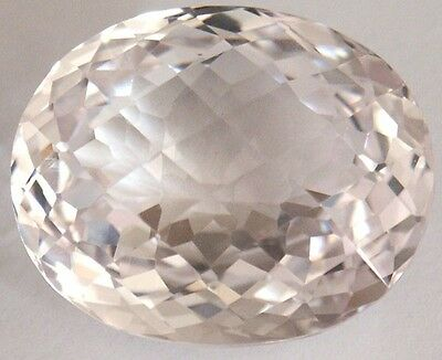 Stunning 93.3cts29.6x25x15 mm Fancy Oval Checkerboard LightPink created Sapphire