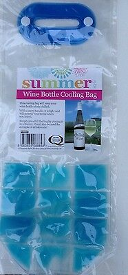 Party Wine Beer Bottle Cooler Chiller Cold Cool Bag Ice Gel Carrier with Handle
