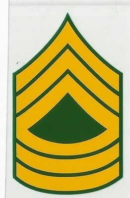 Army MSGT Rank Decal - Outside Application