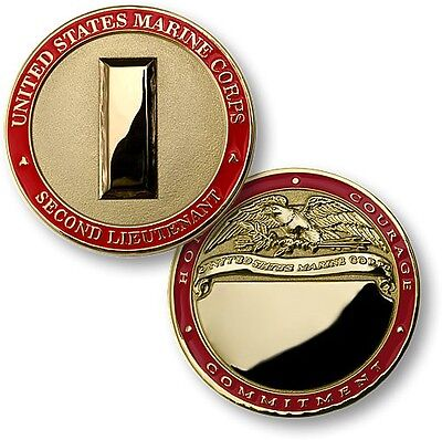 USMC Second Lieutenant Challenge Coin O1 US Marine Corps Rank Engraveable 2nd LT