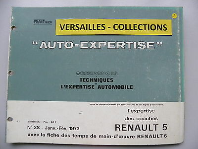 revue technique automobile RTA  AUTO-EXPERTISE  Renault 5