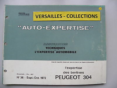 revue technique automobile RTA  AUTO-EXPERTISE  Peugeot  304
