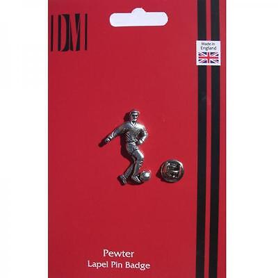 Footballer Lapel Pin Badge Football PLAYER FAN ENTHUSIAST Present GIFT BOX