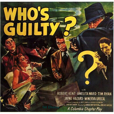 Who's Guilty? - Cliffhanger Movie Serial DVD  Robert Kent Amelita Ward