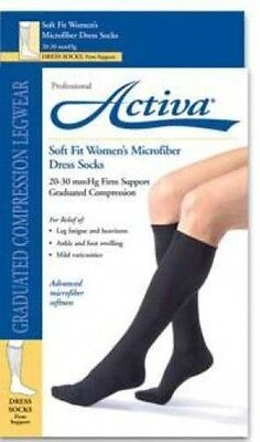 FLA Activa Women Dress Microfiber Compression Socks 20-30 mmHg Supports Pair