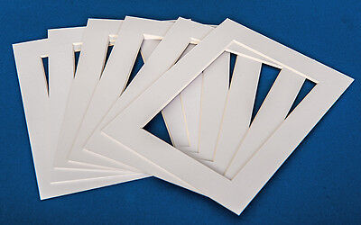 WHITE PHOTO/PICTURE MOUNTS -available in standard, oval & heart shaped apertures