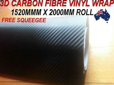 OZ excellent 3D Carbon Fibre Car Vinyl Wrap Sticker1.52 X 2 metre,Squeegee,